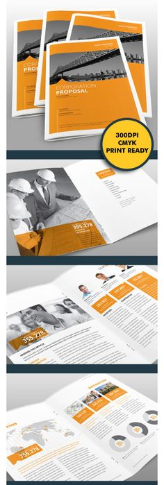 Sharp and Clean Business Proposal by Braxas Mora, via Behance