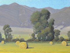 """Third Place Associate Member """"Cottonwood & Bales"""" Patrick McClellan OPA $500 18"""" x 24""""  $500 cash award, made possible thanks to Dorothy Driehaus Mellin and the Richard H. Driehaus Foundation."""