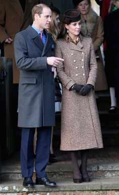 Prince William and Catherine, Duchess of Cambridge, attends Christmas Day Service