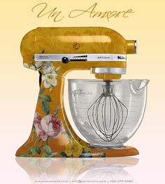 Custom Kitchen Aid stand mixer. Gorgeous!
