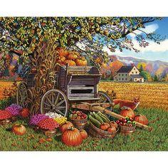 White Mountain Puzzles Harvest Time Puzzle, 1000 Pieces, Multicolor