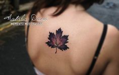 "74 Likes, 1 Comments - NATALIA DARIA (@memento_mori_tattoo) on Instagram: ""#erable #leaf #leaftattoo #floraltattoo #tattoodo #naturetattoo #poitiers #colortattoo #girlytattoo…"""
