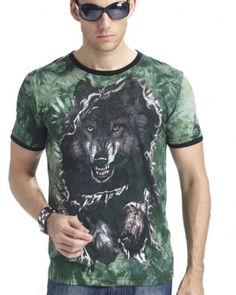 glow in the dark wolf t shirt animal tie dye shirts short sleeve Wolf T Shirt, Tie Dye Shirts, Shirts For Teens, Men Casual, Stylish, Mens Tops, Glow, 3d, Animal