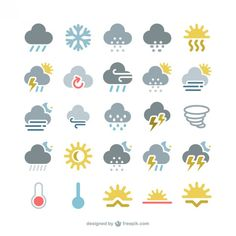 More than a million free vectors, PSD, photos and free icons. Exclusive freebies and all graphic resources that you need for your projects Icon Set, Design Plat, 2d Design, Design Layouts, Flat Design, Google Weather, Interface Web, Interface Design, Rainbow Cartoon