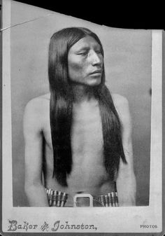 An Arapaho man. Photo by Baker & Johnston.