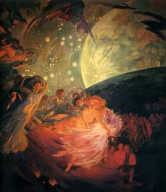 Decoration for a Ceiling Paul Albert Besnard Although Besnard was originally an Impressionist painter, he later broke from the tradition, delivering accurate representations of light in his work. Albert Besnard, Art Magique, Turner Painting, Winter Painting, Affordable Art Fair, Paris Ville, Caravaggio, Art Graphique, Aesthetic Art