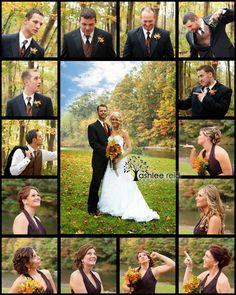 <3<3 ADD diy www.customweddingprintables.com #customweddingprintables ... Amazing Wedding Photo Idea!! Brady Bunch Style!