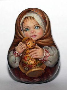 1 вида арт краска roly poly вложения матрешка русского автора кукла девочка малыш