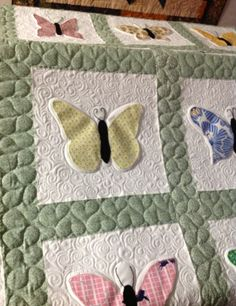 Butterflies- Quilted by Harriet