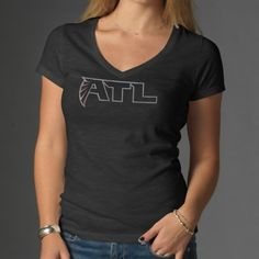 47 Brand Minnesota Vikings Womens Scrum V-Neck Logo T-Shirt nike Minnesota  Vikings. Atlanta Falcons a8afac759