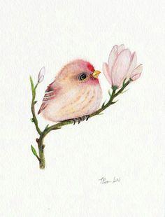 Zeichnen Flower Bird Tattoo Aquarell 67 Ideen - # Flower Bird Tattoo Aquarell Ideas and Tips Watercolor Bird, Watercolor Animals, Watercolour Painting, Painting & Drawing, Tattoo Watercolor, Watercolors, Watercolor Ideas, Bird Drawings, Cute Drawings