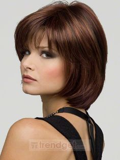 mother of the bride hair | ... Short Straight Brown Capless Synthetic Hair Wigs $65.99 - Trendget.com