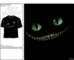 Alice in Wonderland Disney Black T Shirt Licensed Movie Cheshire Cat New 2XL | eBay