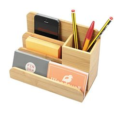 Officemate Organiseur Multimédia de Bureau / Pot à Crayons et Stylos / Carte de Visite Titulaire en Bambou (Distributeurs pour le Bureau en Bois) Wooden Desk Organizer, Desk Organizer Set, Wooden Pen Holder, Calendrier Diy, Pot A Crayon, Small Woodworking Projects, Diy Calendar, Desktop Organization, Wood Gifts