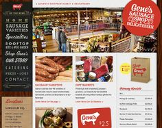Details of the website as featured within CoolHomepages web design inspiration gallery. Web Design Inspiration, Creative Inspiration, Web Design Gallery, Garden Shop, Design Awards, Catering, Sausage, Cool Designs, Menu