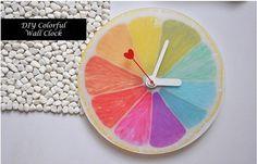 DIY Creative Colorful Lemon Style Designer Wall Clock by Decorism, $24.99
