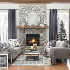 Winter 2015 Catalogue by Urban Barn Living Room With Fireplace, Living Room Grey, Home And Living, Living Room Decor, Living Spaces, Cottage Living, Living Rooms, Urban Barn, Living Room Inspiration