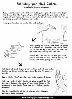 Opening the hand chakra