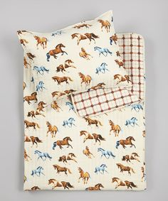 Take a look at this AWST INTERNATIONAL Cream Horses All Over Twin Quilt Set on zulily today!