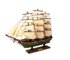 Pretty, interesting vintage ship. Perfect for the nook over the dining room.
