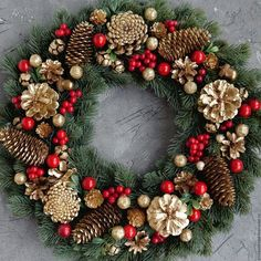 Christmas holidays often come with joy and happiness. This can be emphasized wit., Christmas holidays often come with joy and happiness. This can be emphasized with a bunch of DIY Christmas wreaths to make the holiday complete. Christmas Wreaths To Make, Holiday Wreaths, Rustic Christmas, Christmas Holidays, Christmas Crafts, Christmas Ornaments, Christmas Island, Christmas 2019, Christmas Music