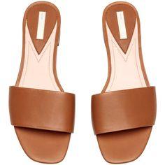 22cd1bd72790 Slip in-sandaler i läder 399 ( 30) ❤ liked on Polyvore featuring shoes