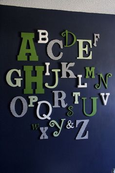 Wooden Alphabet Letters-Can be any color to match your decor. $200.00, via Etsy.