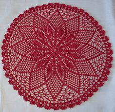Crochet doily tablecloth  24/61cm diameter by CreamKnit on Etsy