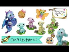 [Fimora Art] ... Craft Update Nr. 09 ... Polymer Clay Creations - YouTube