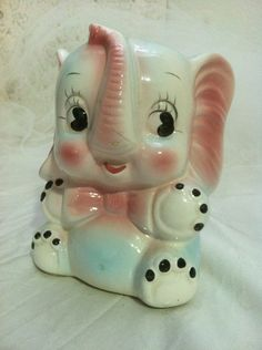 Vintage Waving Elephant Piggy-Bank