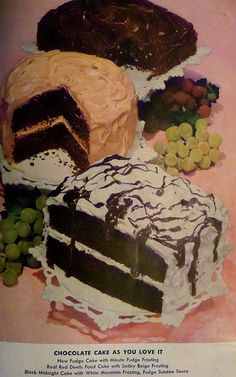 Betty Crocker Picture Cook Book - 1959 - Chocolate Cake As You Love It