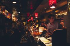 """Green Street Grill - Central Square, Cambridge - The long narrow bar area becomes a pile of people and high tops at peak hours—show up for last call or on school nights for optimal results. The menu's cocktail list has plenty to choose from, but if you're not overwhelmed by options, ask the bartender for the """"special"""" cocktail binder for hundreds of more options."""