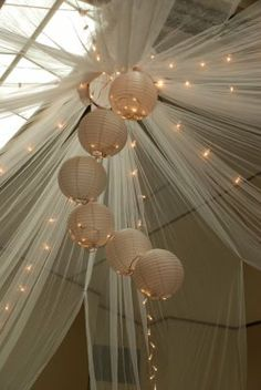 tulle swags wedding - Google Search
