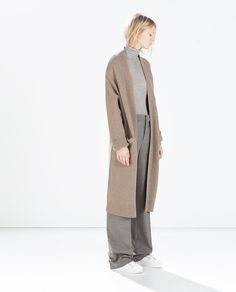 Image 1 of EXTRA-LONG CARDIGAN from Zara