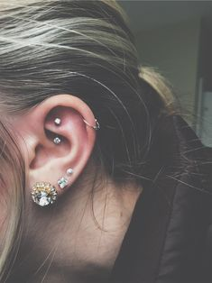 Rook piercing