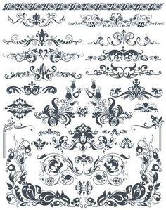 Free Vector Design Elemets, Vignettes, Ornaments, Curles, etc