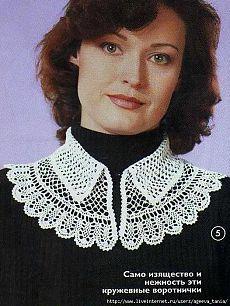 КРУЖЕВНОЙ ВОРОТНИЧОК. Crochet Necklace, Crochet Collar