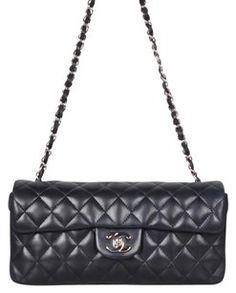 e04eb65445a30d Chanel Lambskin East West Flap Shoulder Bag Lipstick, Shoulder Bag,  Handbags, Stuff To