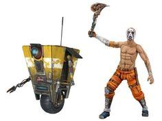 """Borderlands 7"""" Figure Series 01 - Set of Psycho Bandit & Claptrap"""