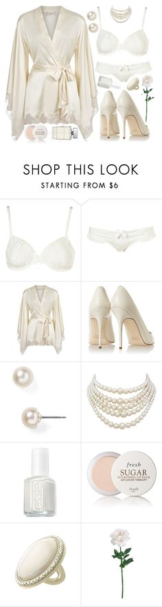 """""""Untitled #4223"""" by natalyasidunova ❤ liked on Polyvore featuring Agent Provocateur, J.Crew, Carolee, Christian Dior, Essie, Fresh, Topshop and HUGO"""