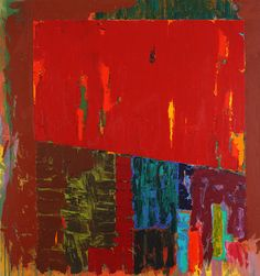 "John Hoyland ~ ""Shelta"", Acrylic on cotton duck x 229 cm). Abstract Words, Abstract Art, Abstract Expressionism, English Artists, British Artists, Geometry Shape, Paintings I Love, Types Of Art, Landscape Art"