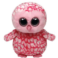 Beanie Boos ~ Pinky - pink barn owl If you look up in the night sky You just may see me flying by!
