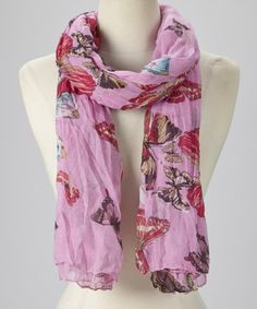 Take+a+look+at+the+Pink+Butterfly+Scarf+on+#zulily+today!