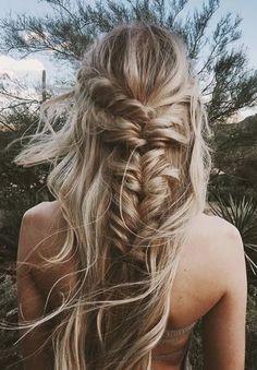 fishtail braids | beachy blonde highlights + hair ideas