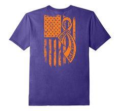 Leukemia Awareness Shirt/ Leukemia Awareness FLAG T-Shirt