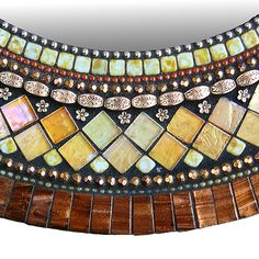 Golden Bronze Mosaic Mirror