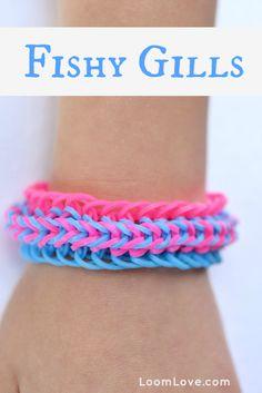How to Make a Rainbow Loom Fishy Gills Bracelet