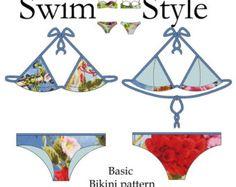Indigo Ruche Women s Bikini pdf sewing by Swimstylepatterns