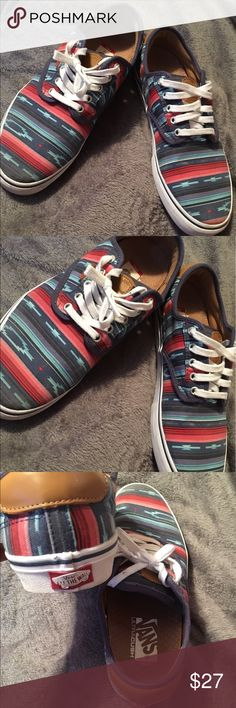 Men's Aztec print Vans These shoes are in perfect condition and have only ever been worn once. They have an Aztec print and a vans logo on the front and the heel of the shoe. Vans Shoes Sneakers