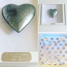 A new Tin Wedding Anniversary Gift off to its new home #tin #heart ...